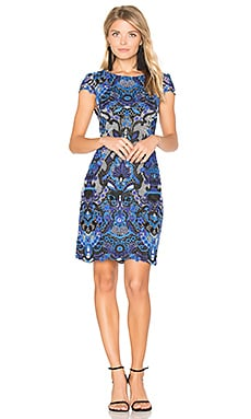 Nakia Mini Dress in Blue Multi