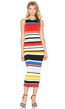 Jenner Ribbed Midi Dress in Multi