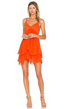 Delilah Dress in Tangerine