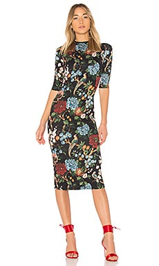 Delora Floral Midi Dress