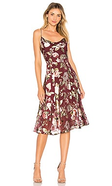 Heather Cowl Neck Midi Dress Alice + Olivia $395 NEW ARRIVAL
