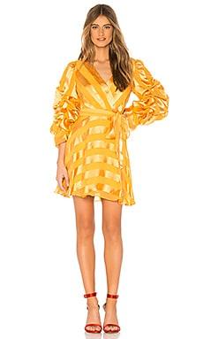 Купить Платье santina - Alice + Olivia, Длинные рукава, Китай, Желтый