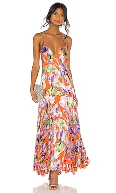 Hetty Halter Neck Maxi Dress Alice + Olivia $462