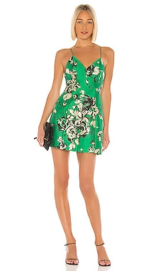Tayla Structured Lantern Mini Dress Alice + Olivia $154
