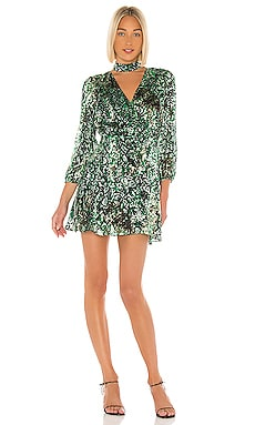 Rita Blouson Sleeve Mini Dress Alice + Olivia $440 NEW ARRIVAL
