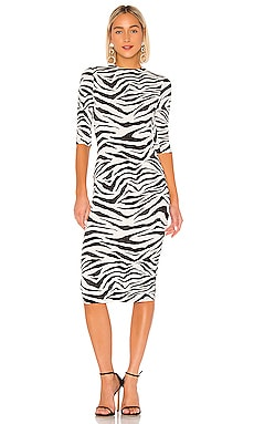 Delora Fitted Mock Neck Dress Alice + Olivia $330