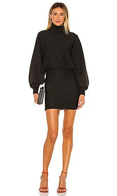 Bari Turtleneck Dolman Sleeve Dress Alice + Olivia $395