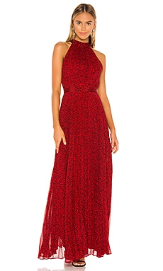 Kelissa Halter Pleat Maxi Dress Alice + Olivia $417