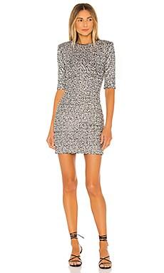 Inka Embellished Strong Shoulder Crew Neck Dress Alice + Olivia $660 NEW ARRIVAL