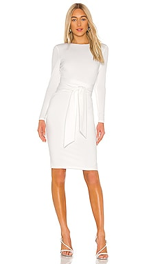 Delora Long Sleeve Tie Waist Dress Alice + Olivia $231