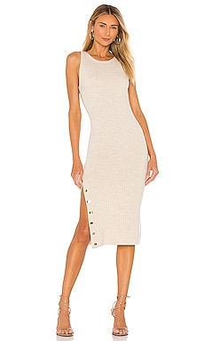 Jenner Crew Neck Slim Dress Alice + Olivia $350