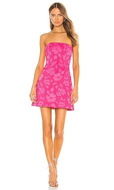 Perla Boned Strapless Pleated Dress Alice + Olivia $394 BEST SELLER