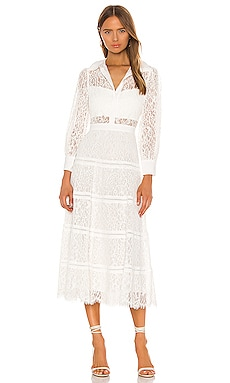 Anaya Collared Tiered Dress Alice + Olivia $794 BEST SELLER
