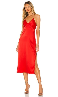 Loraine Seamed Slip Midi Dress Alice + Olivia $280