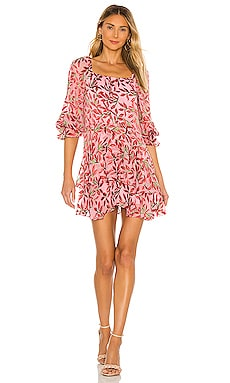 Debra Square Neck Skirt Tunic Dress Alice + Olivia $485