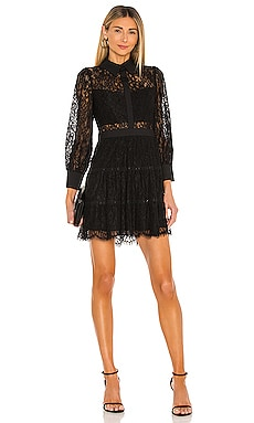 Anaya Collared Tiered Short Dress Alice + Olivia $550