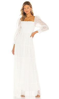 Cooper Smocked Bodice Maxi Dress Alice + Olivia $550