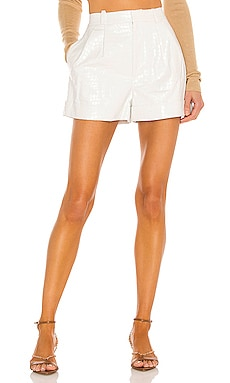 Conry Vegan Leather Pleat Cuff Short Alice + Olivia $225