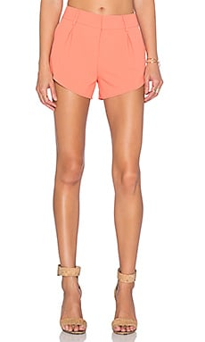 Alice + Olivia Butterfly Short in Coral