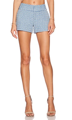 Alice + Olivia Cady Short in Cream & Blue