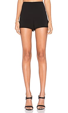 Alice + Olivia Back Zip Short in Black