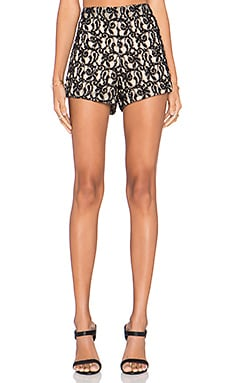 Alice + Olivia Embellished Short in Natural & Black