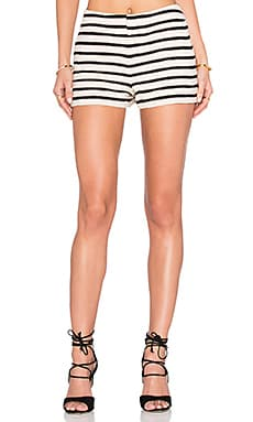 Alice + Olivia Ernie Short in Black & Cream