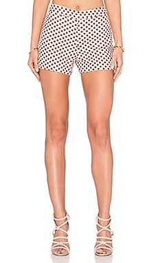 Alice + Olivia Marisa Short in Cream & Red