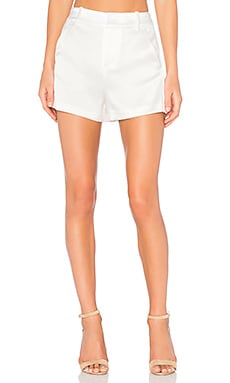 Alice + Olivia Deacon High Waist Short in Off White