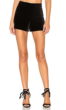 Marisa Back Zip Shorts en Negro
