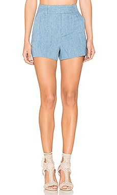 Deacon High Waisted Shorts em Light Chambray