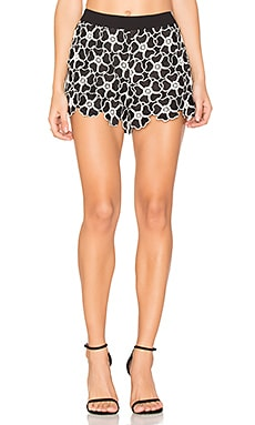 Amaris Lace Short in Black & White