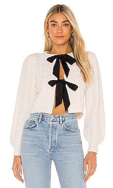 Kitty Puff Sleeve Cardigan Alice + Olivia $495