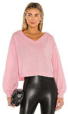 Ansley Blouson Sleeve Wide V Neck Sweater Alice + Olivia $330