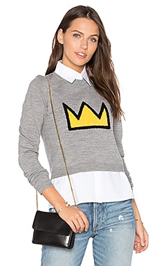 Nikia Crown Sweater in Medium Grey & Multi