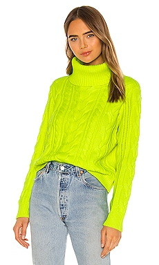 Mayme Turtleneck Cable Pullover Alice + Olivia $350
