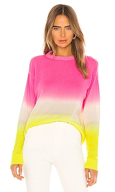 Gleeson Cashmere Blend Dip Dye Long Sleeve Pullover Alice + Olivia $375