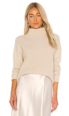 Alice + Olivia Daphney Turtleneck Tunic in Oatmeal from