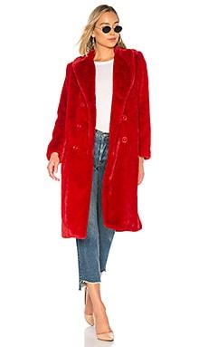 Купить Пальто из искусственного меха montana - Alice + Olivia красного цвета