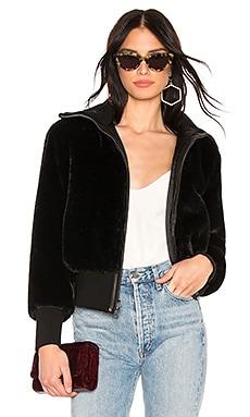 Genova Faux Fur Bomber Alice + Olivia $550