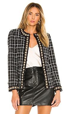 Carmen Embellished Strong Shoulder Fitted Blazer Alice + Olivia $795