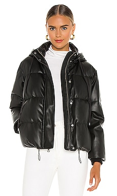 Robinson Vegan Leather Crop Puffer Alice + Olivia $594