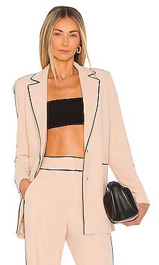 Valeria Fitted Long Blazer Alice + Olivia $495