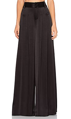 Alice + Olivia Wide Leg Flutter Pant in Black