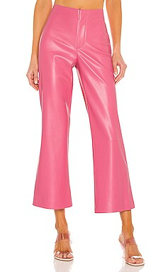 Lorinda Vegan Leather Super High Waist Pant Alice + Olivia $295