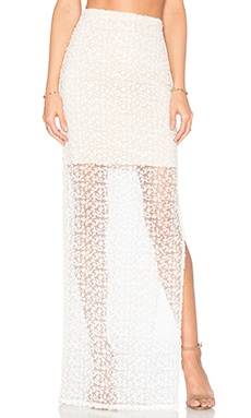 Alice + Olivia Misha Skirt in White & Natural