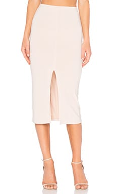 Alice + Olivia Spiga Midi Skirt in Pale Nude