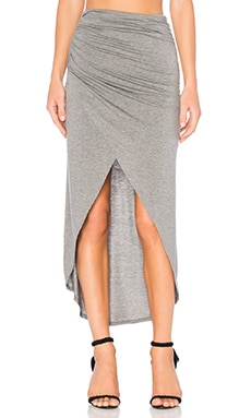 Tiana Crossover Midi Skirt in Medium Grey