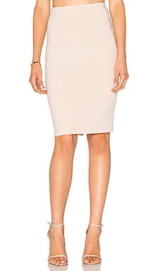 Terri Pencil Skirt in Pale Nude