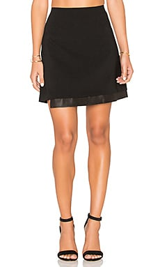 Alice + Olivia Darcie Skirt in Black